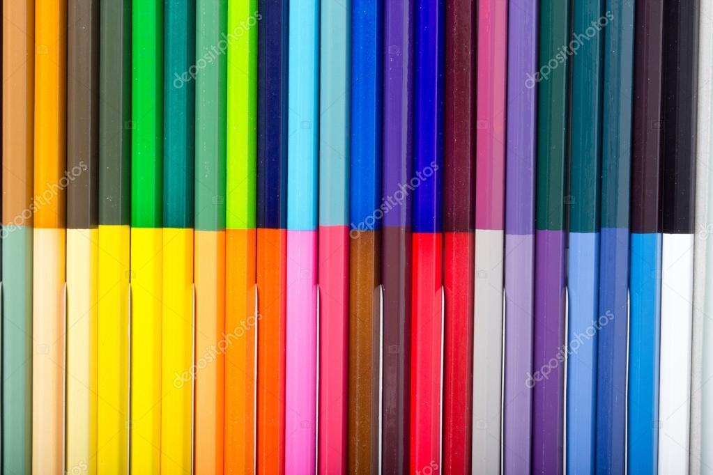 Kleur Veel Kleur : Veel kleur van kleur potloden u stockfoto wonderisland