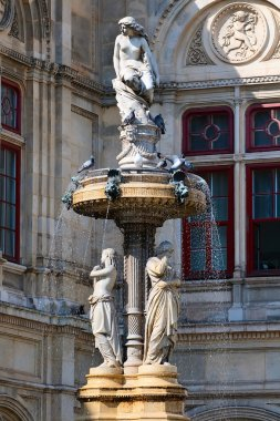The fountain at the Vienna State Opera