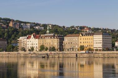 Houses on the Danube embankment in Buda