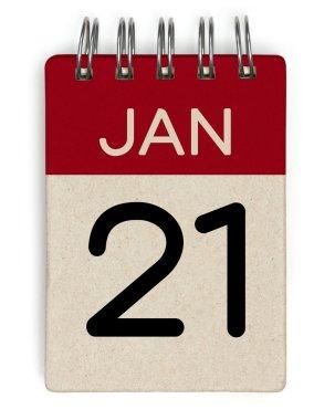 21 jan calendar
