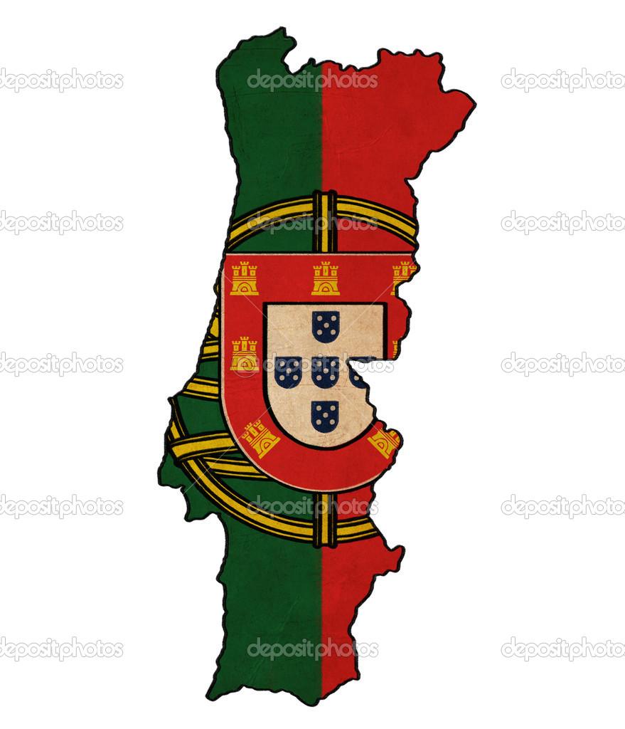 Mapa de portugal na bandeira de desenho grunge e retr - Dessin portugal ...
