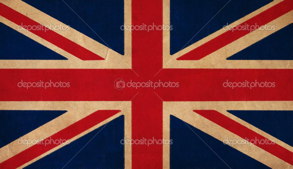 Bandera Del Reino Unido De Dibujo Grunge Y Bandera Retro Series