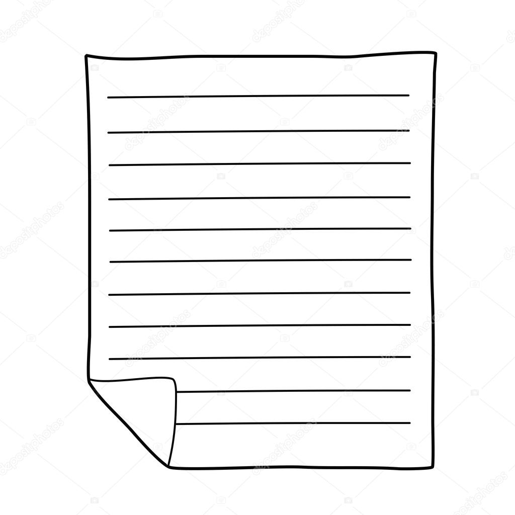 Dibujo de papel de cuaderno archivo im genes vectoriales - Papel para dibujar ...