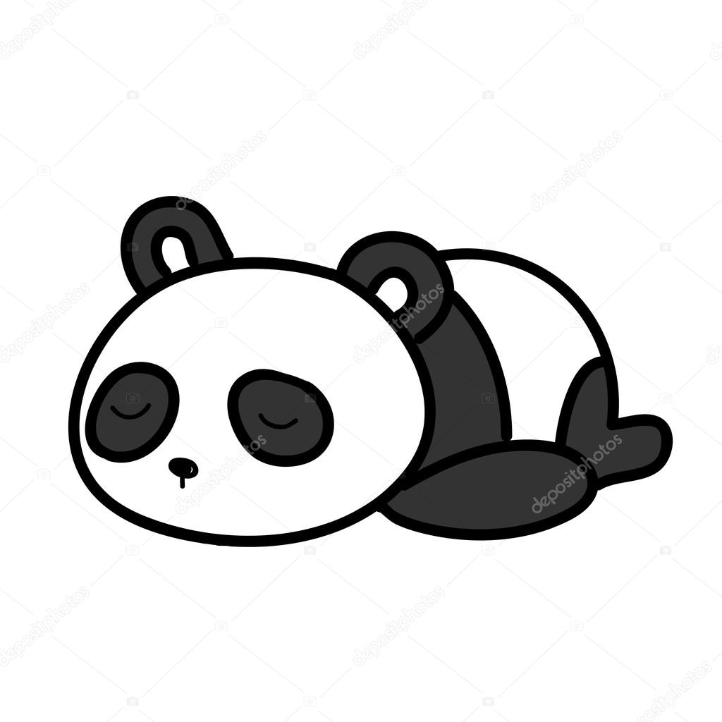 baby panda sleeping vector illustration stock vector