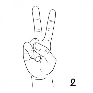 Sign language,Number 2
