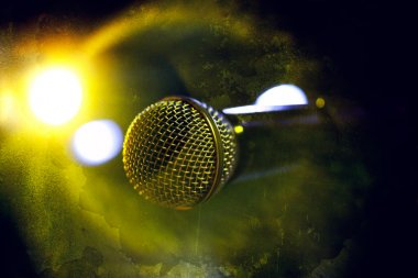 Microphone in old style