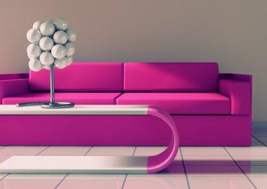 3d Modern interior architecture