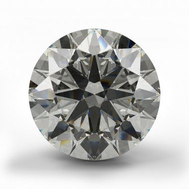 Top view of round diamond.