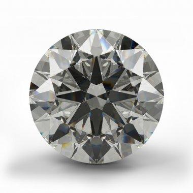 Top view of round diamond.