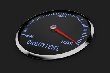 speedometer - quality level