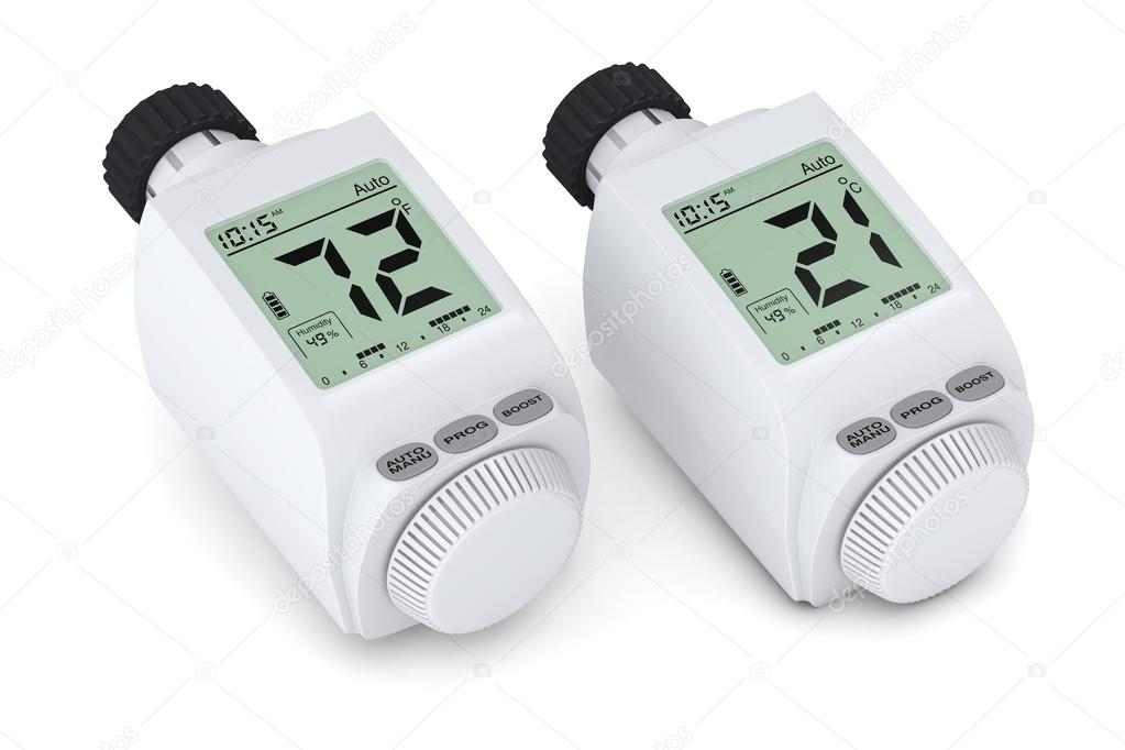 Robinet thermostatique de radiateur num rique - Robinet thermostatique radiateur programmable ...