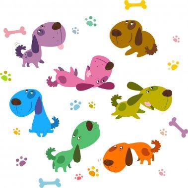 Cartoon Dogs Collection clip art vector