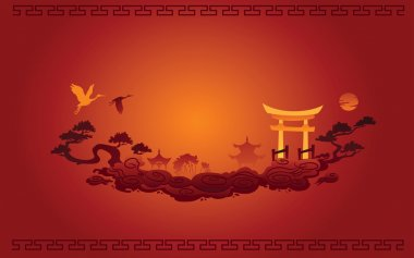 Abstract illustration of Chinese Background stock vector