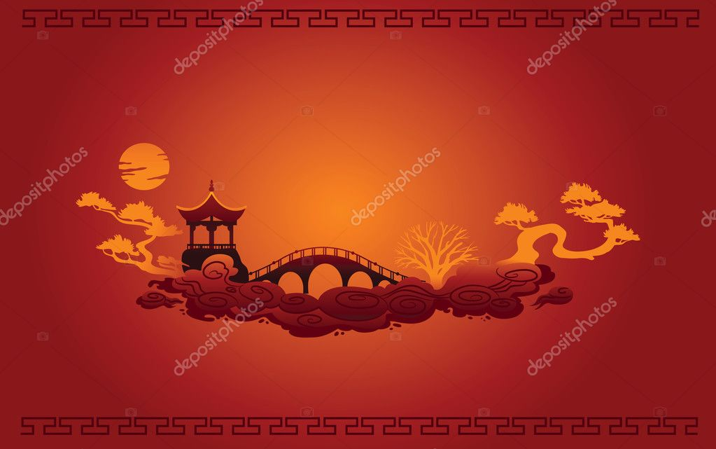 Vector of Abstract Chinese Background