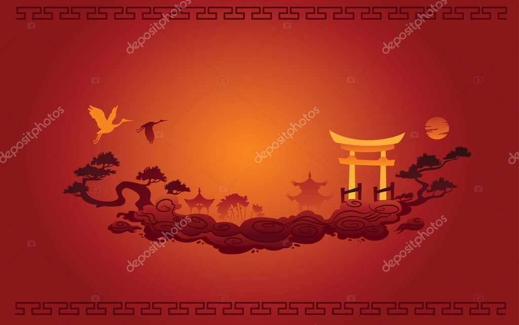 Abstract illustration of Chinese Background