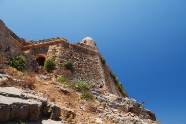 Gramvousa island fortress building ruins