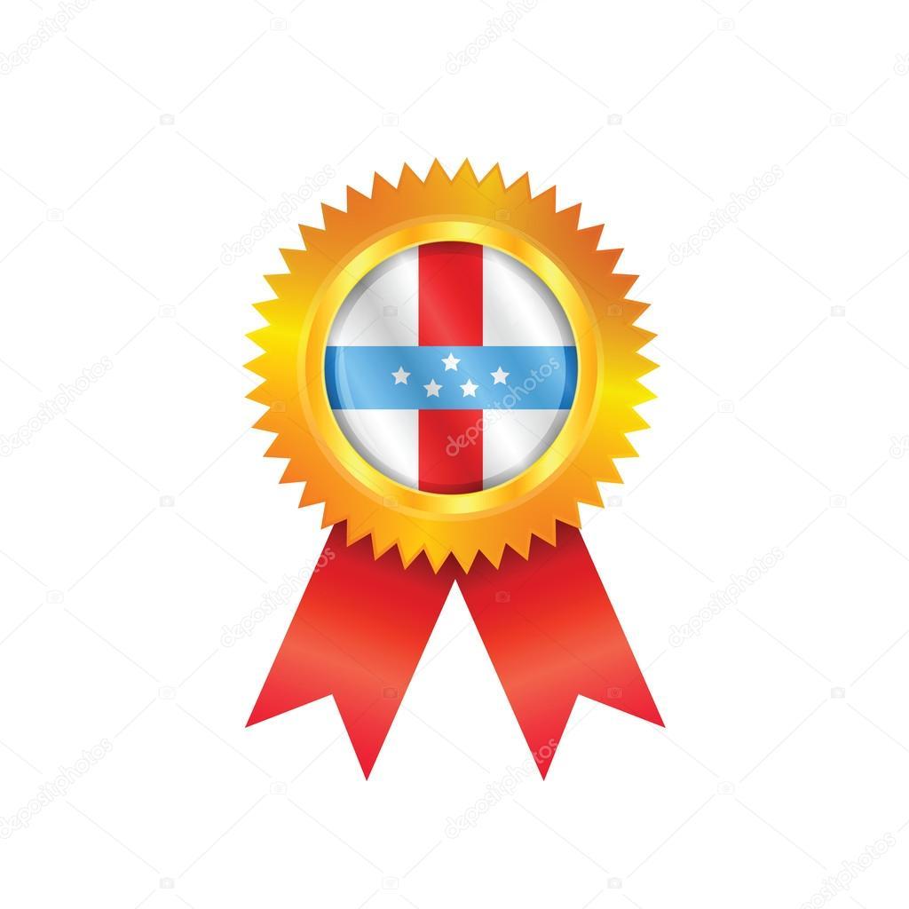Bandera de las Antillas medalla — Vector de stock © Sportactive ...
