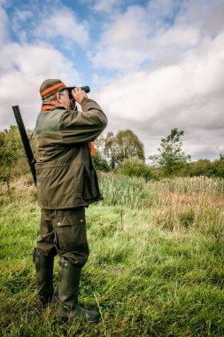 Hunter searching