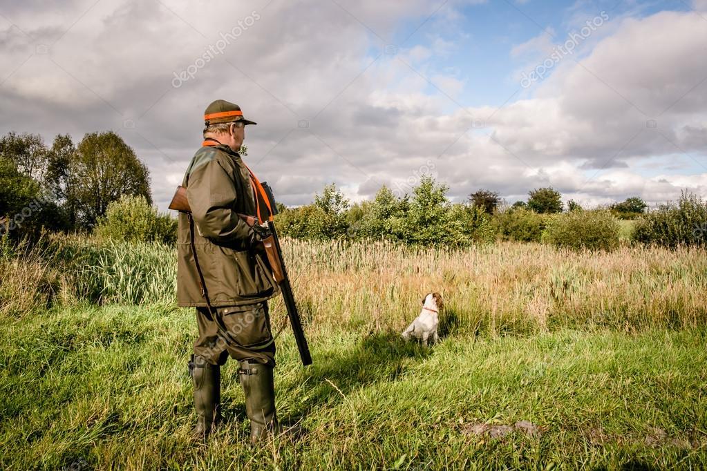 Hunter standing