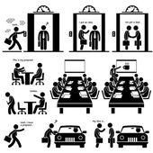 Geschäft Vorschlag Idee Präsentation Verkauf Aufzug Taktabstand Investor Risikokapitalgeber treffen Strichmännchen Piktogramm Symbol