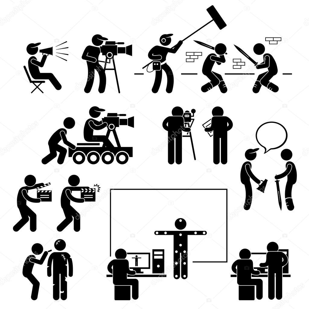 Sport field and track game athletic event winner celebration icon director making filming movie production actor stick figure pictogram icon biocorpaavc Images