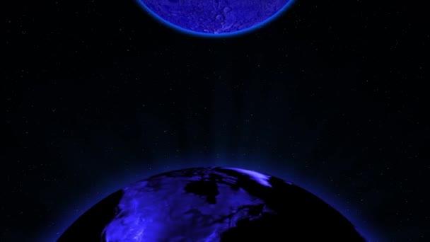 modrá země a měsíce