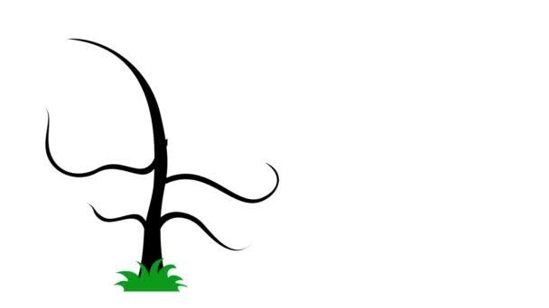 Művészi fa, rajta kérdőjel