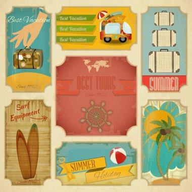 Set of Retro Summer Labels