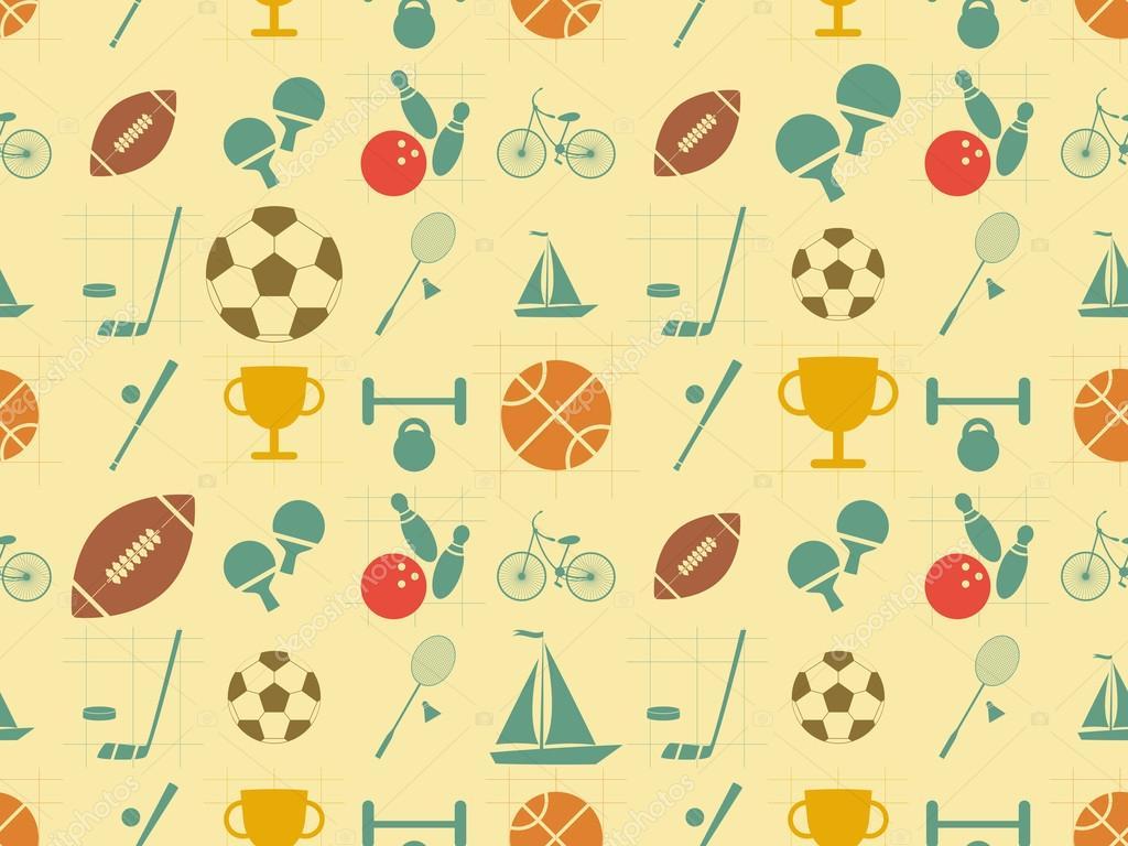 Flat Sports Seamless Background