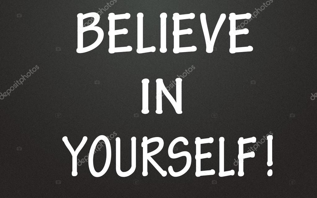 Believe In Yourself Symbol Stock Photo Flytosky11 24805591