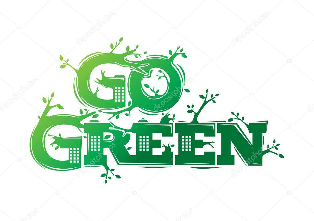 Go green logo campaign
