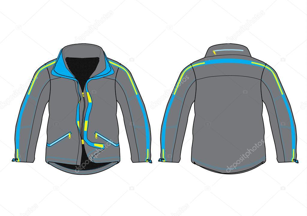 ベクトル ジャケット デザイン テンプレート ストックベクター