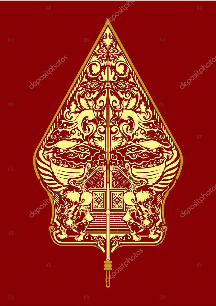 Pattern gunungan wayang javanese indonesia
