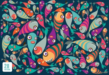 Beautiful collection of tropical fish