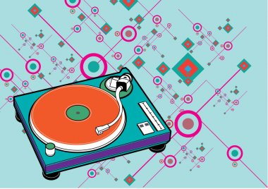 DJ turntable set pattern
