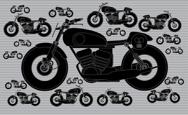 Motorbike race pattern wallpaper