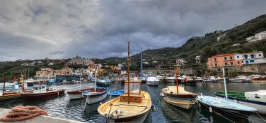 Massa Lubrense, italian fishing village Panoramic