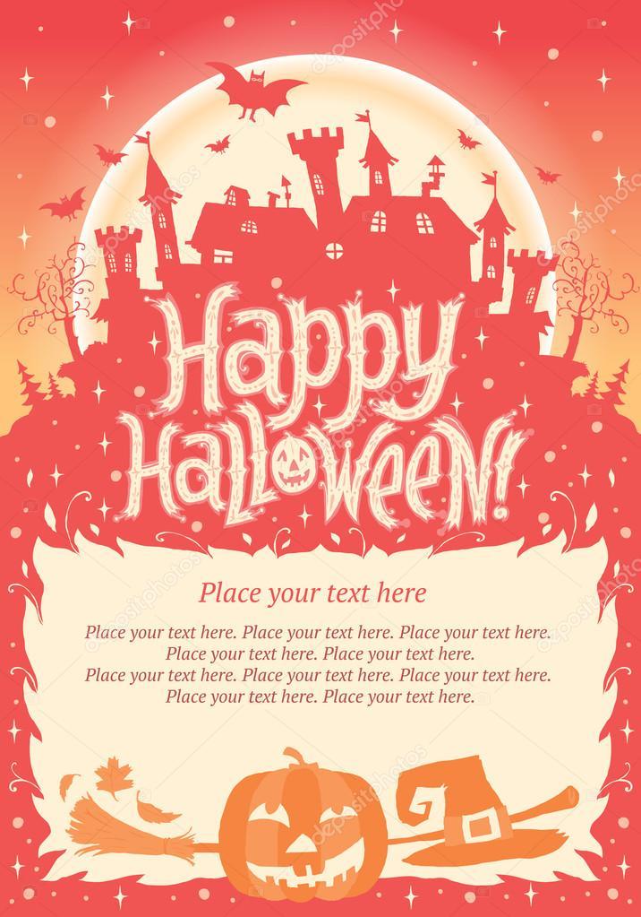 Fröhliches Halloween! Halloween Plakat, Karte Oder Hintergrund Für Halloween  Party Einladung U2014 Stockvektor #33091131