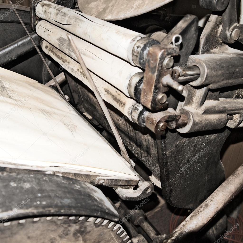 Old printing press — Stock Photo © teaberry #49947353