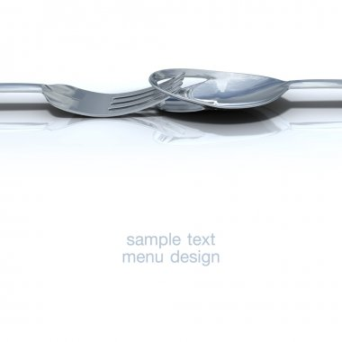 Spoon and fork for the design of the menu.