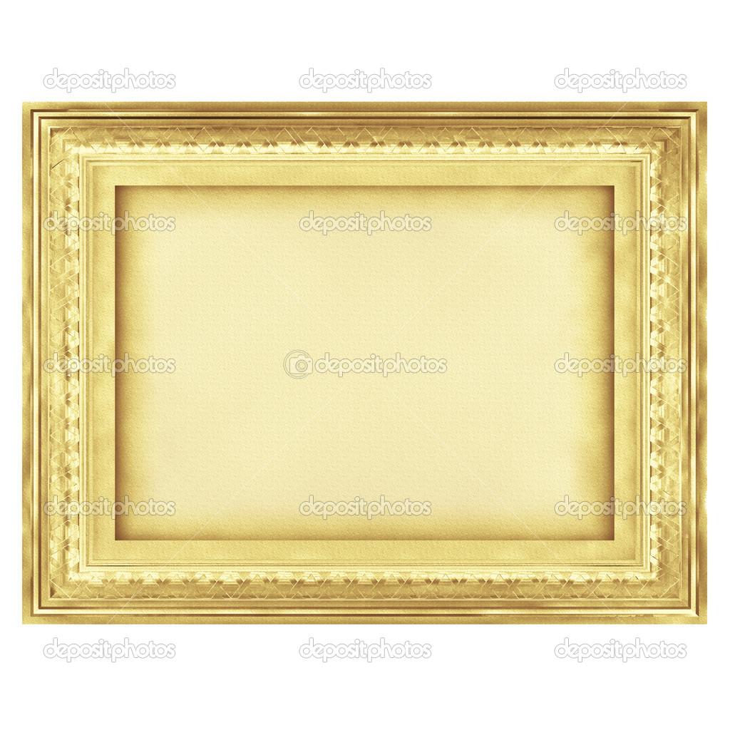 gold Jahrgang Kunst Rahmen, digitale Illustration Zeichnung ...