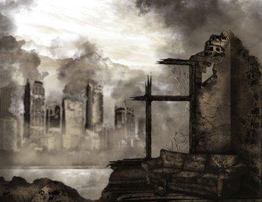 "Картина, постер, плакат, фотообои ""Апокалипсис"", артикул 34834249"