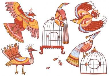 Fairy-tale birds set