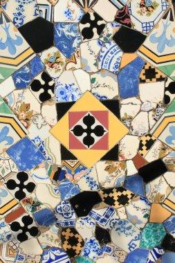 Mosaics decoration at Guell Palace