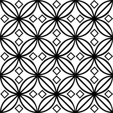 Black and white tile illustration