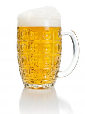 Pint of lager beer