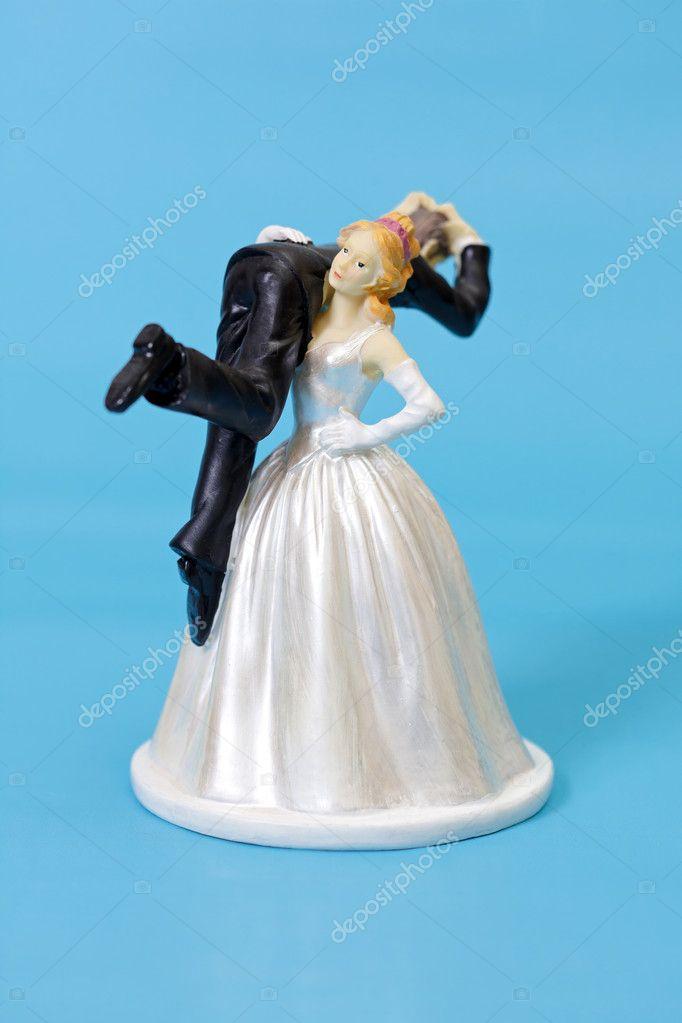 Lustige Hochzeitstorte Topper Stockfoto C Icefront 30730545