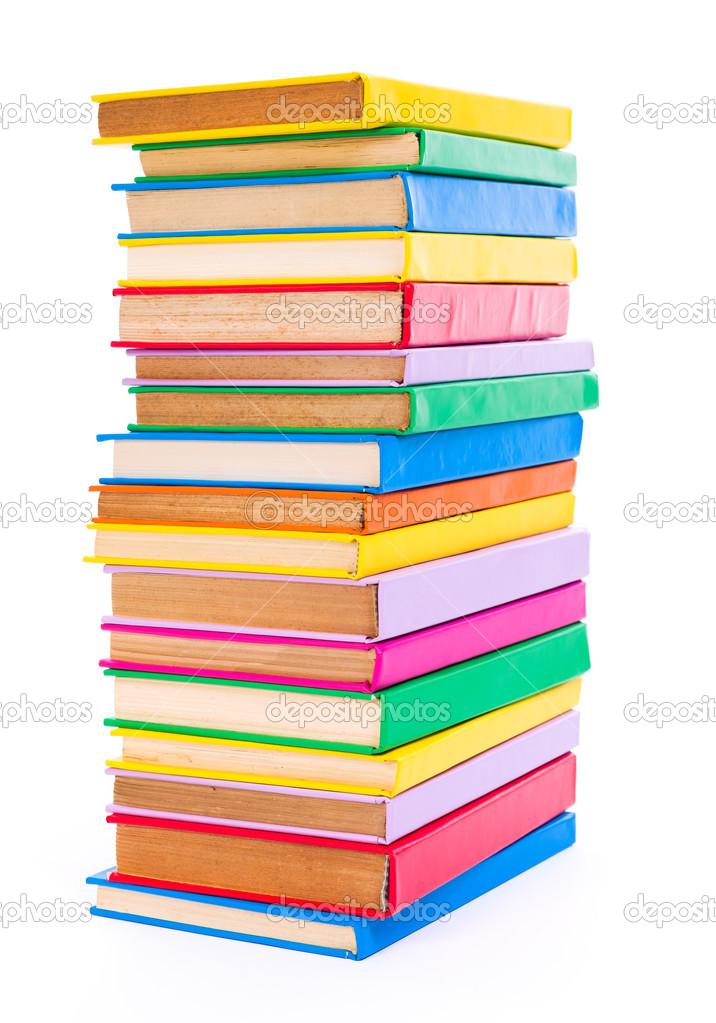 coloridos libros apilados — Foto de stock © icefront #35719143