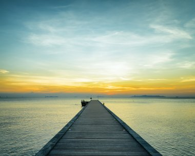 Boat pier at sunset