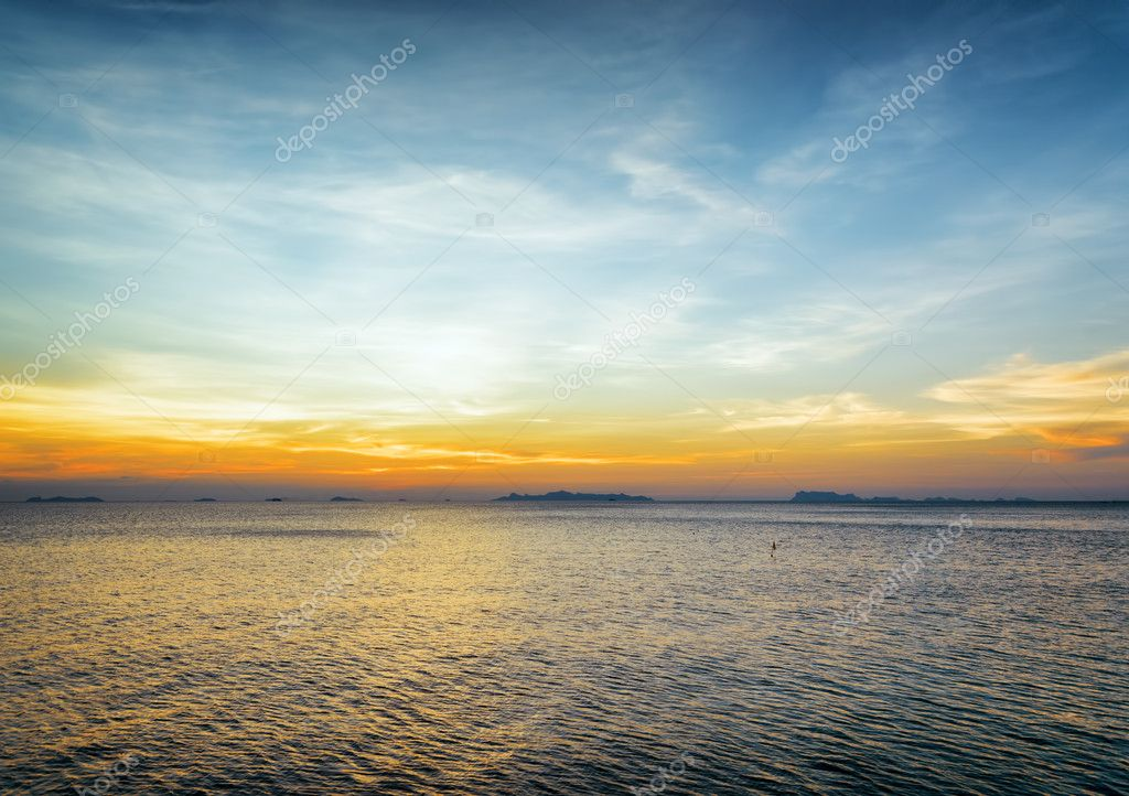 Sea and sky at sunset. Beautiful landscape